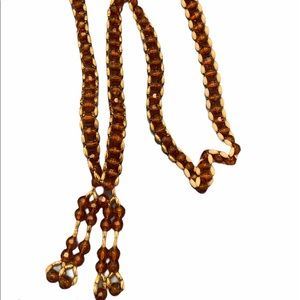 Costume Vintage Beaded Dangle Necklace